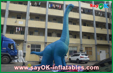 10m Blue Large Inflatable Dinosaur PVC Waterproof Blow Up شخصیت های کارتونی اژدها